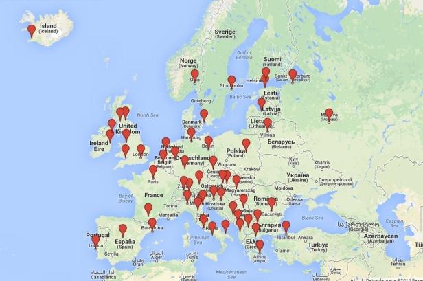 Ruta en Europa