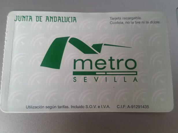 Tarjeta de Metro, Sevilla, España