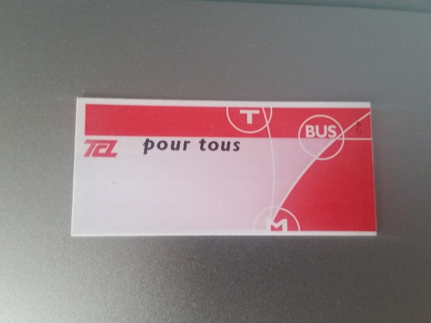 Ticket de Metro, Lyon, Francia