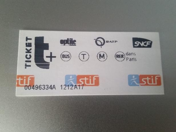 Ticket de Metro, París, Francia