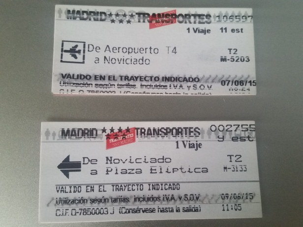 Tickets de Metro, Madrid, España